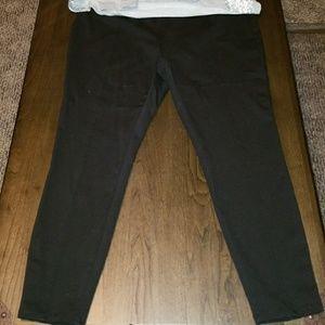 Black stretchy leggings - 16/18 Xlarge